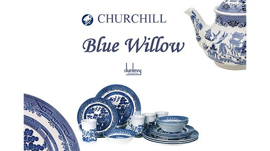 Dunlevys Blue Willow Pattern